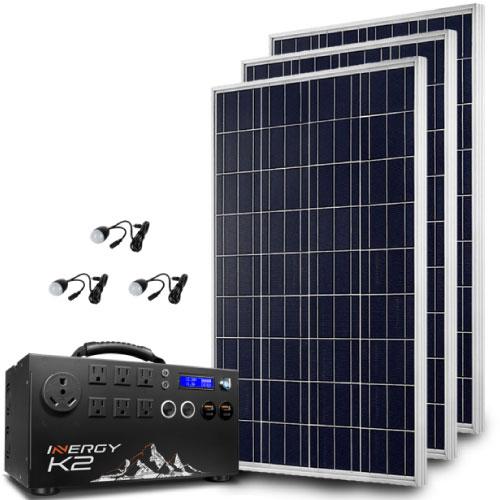 Inergy Silver Apex Kit 3 X 100w Storm Solar Panel Apex