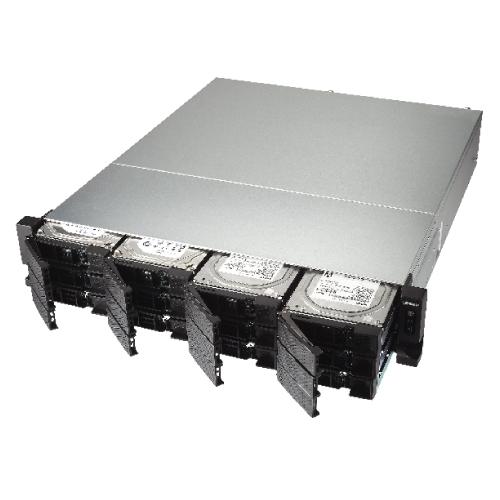 QNAP TS-1263U-4G-US 2U 12-Bay AMD 64bit x86-based NAS and